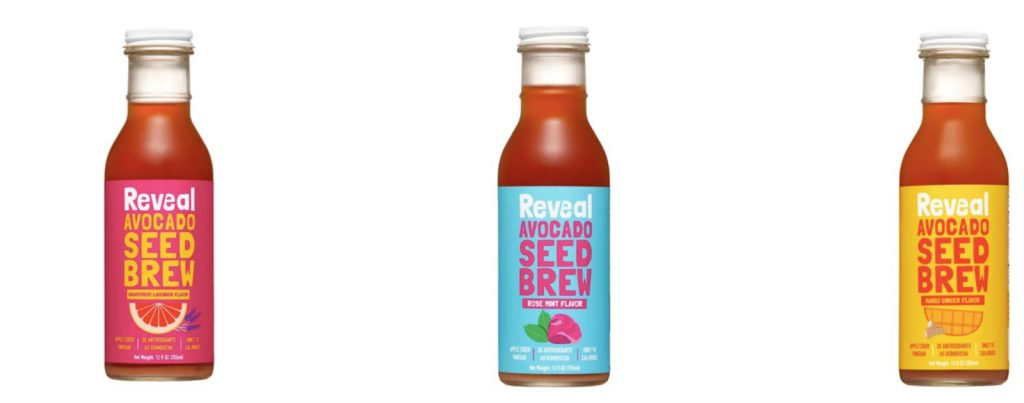 reveal avocado seed brew products made with upcycled food ingredients